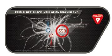 PRIMALOFT BLACK INSULATION DOWN BLEND